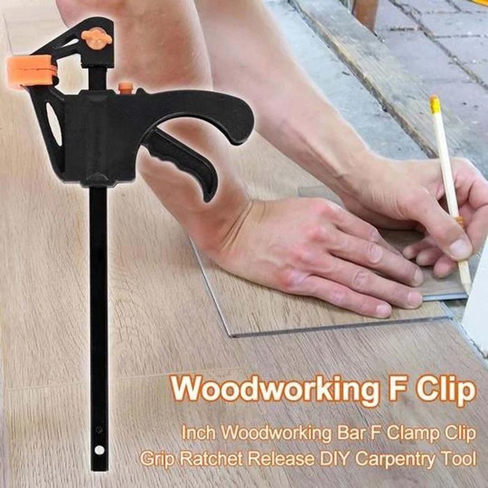 6 pièces outil de serrage en F pour le travail du bois pince universelle force de la planche de serrage type rapide RRS7531