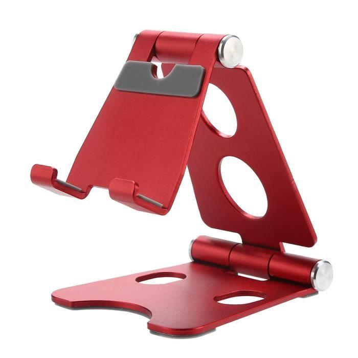 métal Support Mobile Support portable pliable Téléphone Stents Support de téléphone portable-Métal pliable rouge de support de