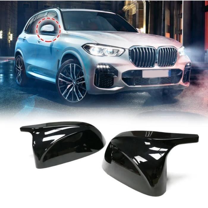 2 COQUE RETROVISEUR LOOK M NOIR BRILLANT POUR BMW X3 G01 X4 G02 X5 G05 X6 G06 X7 G07