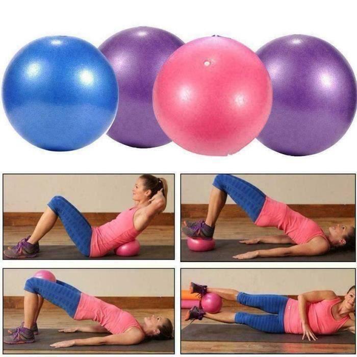 BALLON DE YOGA-FITNESS - 25CM -Ballon de yoga 25cm Ball ballon d'équilibre Fitness Gym Yoga Balance Ballon d'Exercice en PVC Bleu