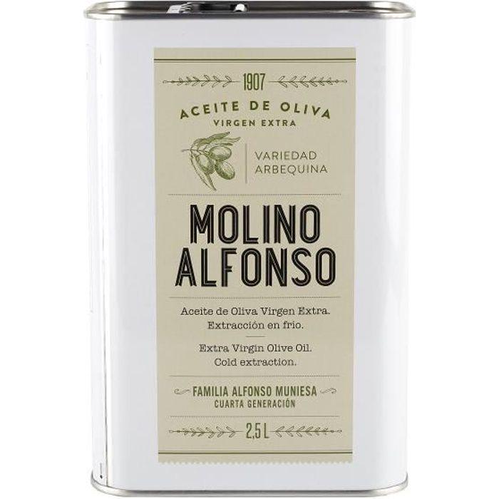 Huile d'olive extra vierge Arbequina (boîte de 2,5 litres) - Molino Alfonso