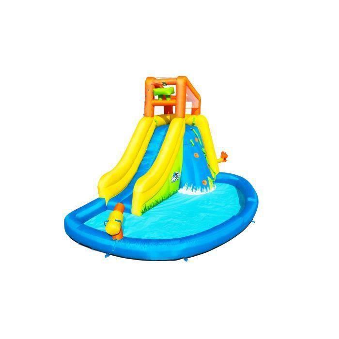 BESTWAY Aire de jeux à air constant avec toboggan, pataugeoire et canon à eau Mont Splashmore H2OGo!