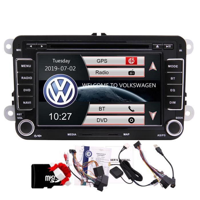 7 pouces Lecteur DVD de voiture stéréo pour Vw Golf Jetta Passat Tiguan Touran Eos Navigation GPS Bluetooth Headunit à Autoradio Das