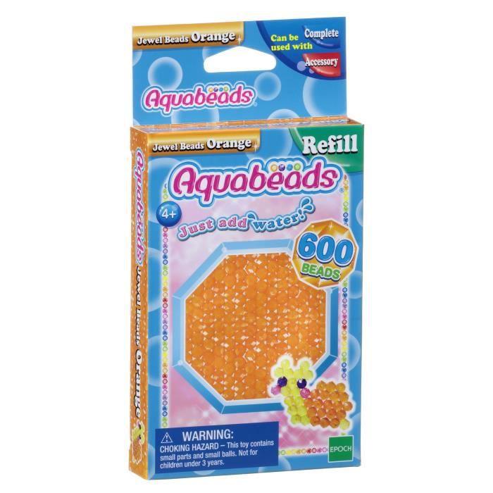AQUABEADS Perles Mutli-Facettes Orange
