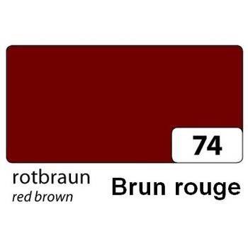Lot 5 feuilles cartonnées fort grammage, format A4, 300 gr m², 57 coul. au choix - 74-Rouge brun