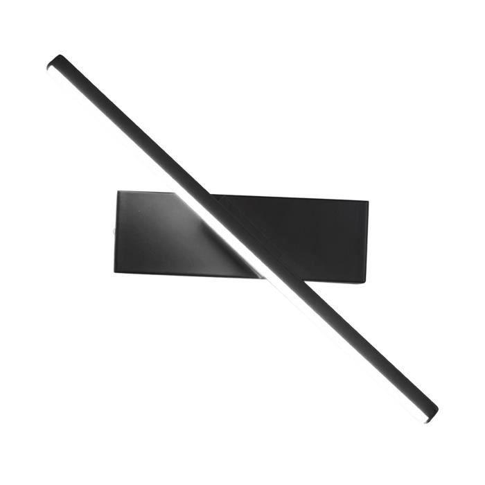 Applique Murale à LED élégante, Liseuse à La Maison, Décoration D'éclairage de Tache de Chambre à Lumière blanche noire