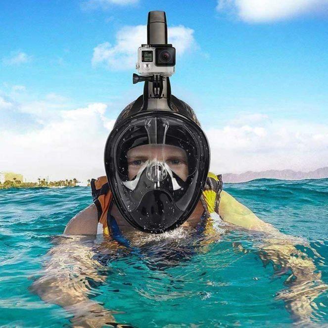 Masque de plongée intégral