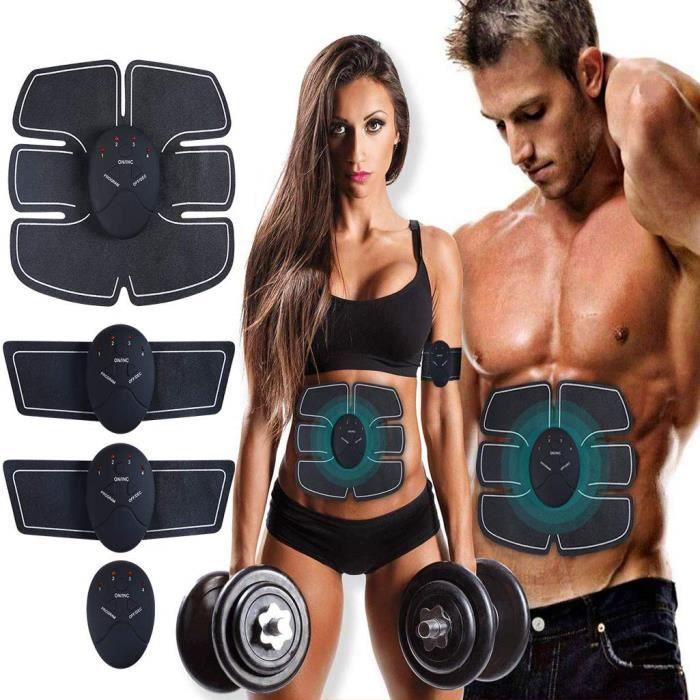 Electrostimulateur Musculaire, Ceinture Abdominale, EMS Muscle Stimulateur, Massage Abdomen/Bras/Cuisse- Hommes et Femmes