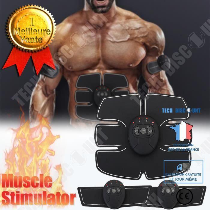 TD® Appareil de Stimulation Abdominale Musculation Electro Stimulateur Ceinture Muscle Fitness Abdo Sport Accessoire sportif