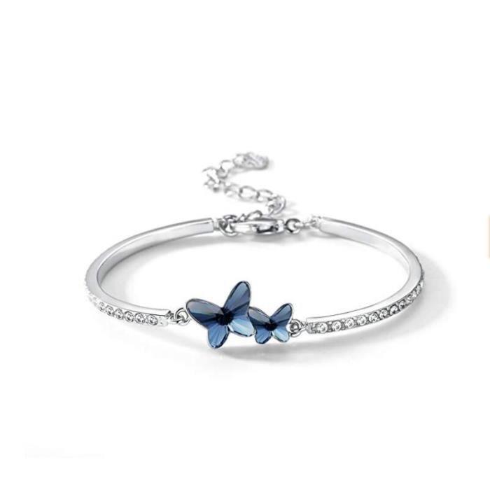 European Silver 12 Constellation Bracelet Charme Cristal Perles De Verre Femmes Bijoux
