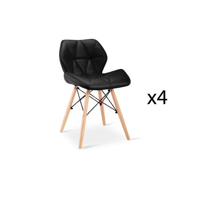 Lot De 4 Chaises Design Ophir Noir Achat Vente Chaise