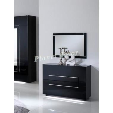 commode chambre adulte city noir achat vente commode. Black Bedroom Furniture Sets. Home Design Ideas
