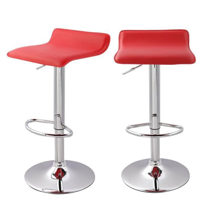 Tabouret de bar rouge cdiscount - Tabourets de bar rouge ...