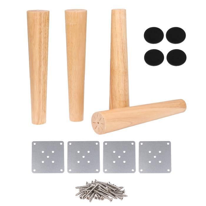 4pcs Meubles Coniques En Bois Massif Pieds Couleur Bois 30cm 6cm 3 5cm Achat Vente Pied De Meuble 4pcs Meubles Coniques En Bo Cdiscount