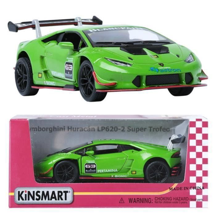 kinsmart 1 36 lamborghini huracan lp620 2 super trefeo green display toy achat vente. Black Bedroom Furniture Sets. Home Design Ideas