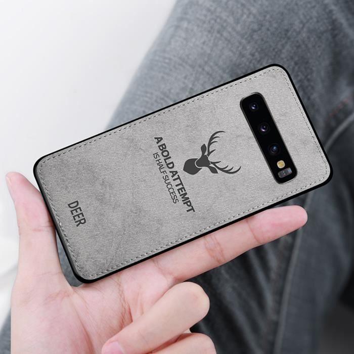 iPhone XS Max Coque Ultra Mince Tissu Silicone Souple Protection intégrale Antichoc étui iPhone XS Max Gris