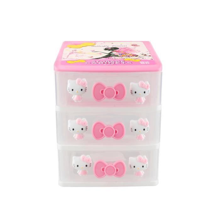 Boites De Rangement Hello Kitty Tiroir De Rangement Pour Cosmetiques De Bureau Hello Kitty Achat Vente Boite Pour Alimentation Boites De Rangement Hello K Cdiscount