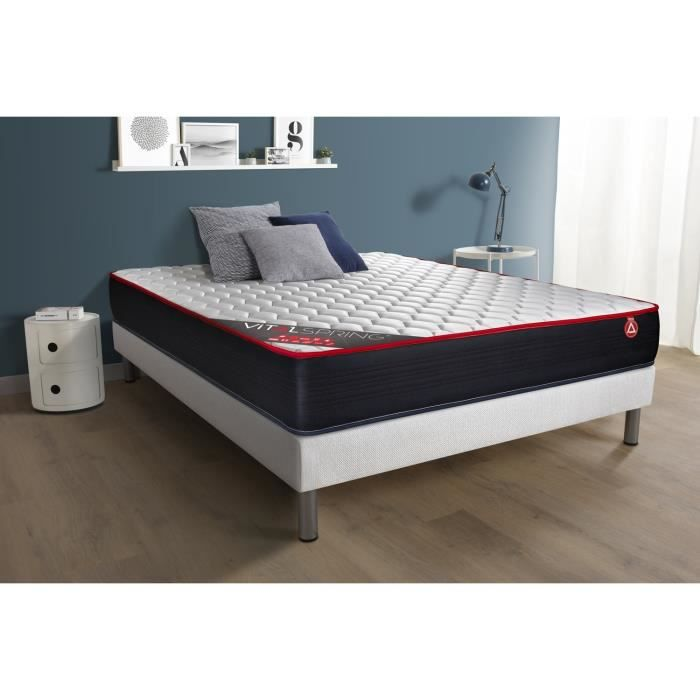 matelas vitalspring 160x200 ressorts ensach s 3 zones. Black Bedroom Furniture Sets. Home Design Ideas