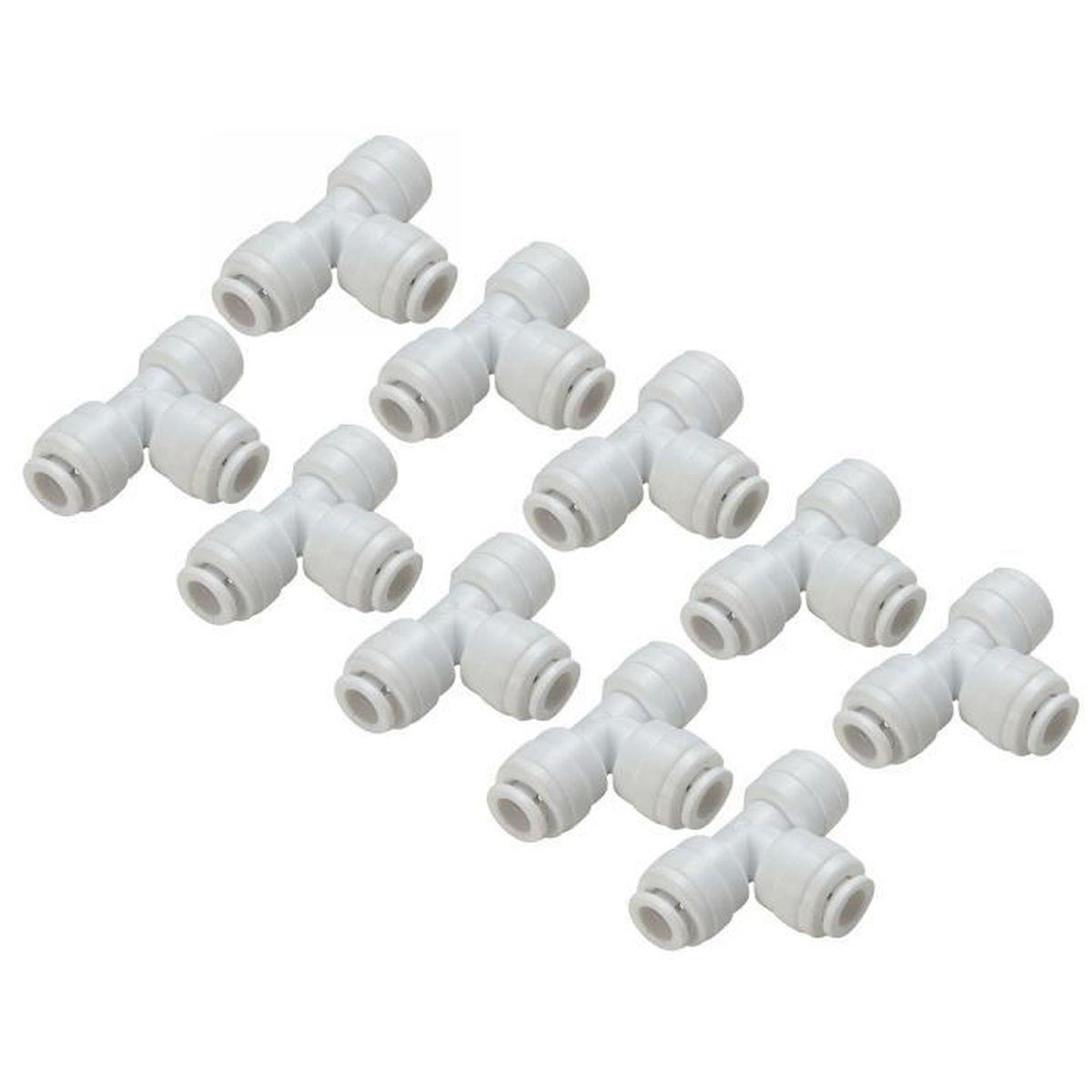 2 x 14 mm T Pièce Plastique Barbelé Connecteur Tuyau Tuyau Menuisier Tuyau Air Carburant Eau