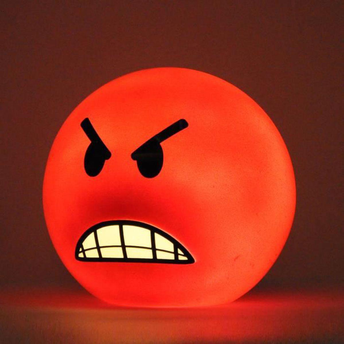 Lampe Emoticon En Colère Achat Vente Lampe Emoticon