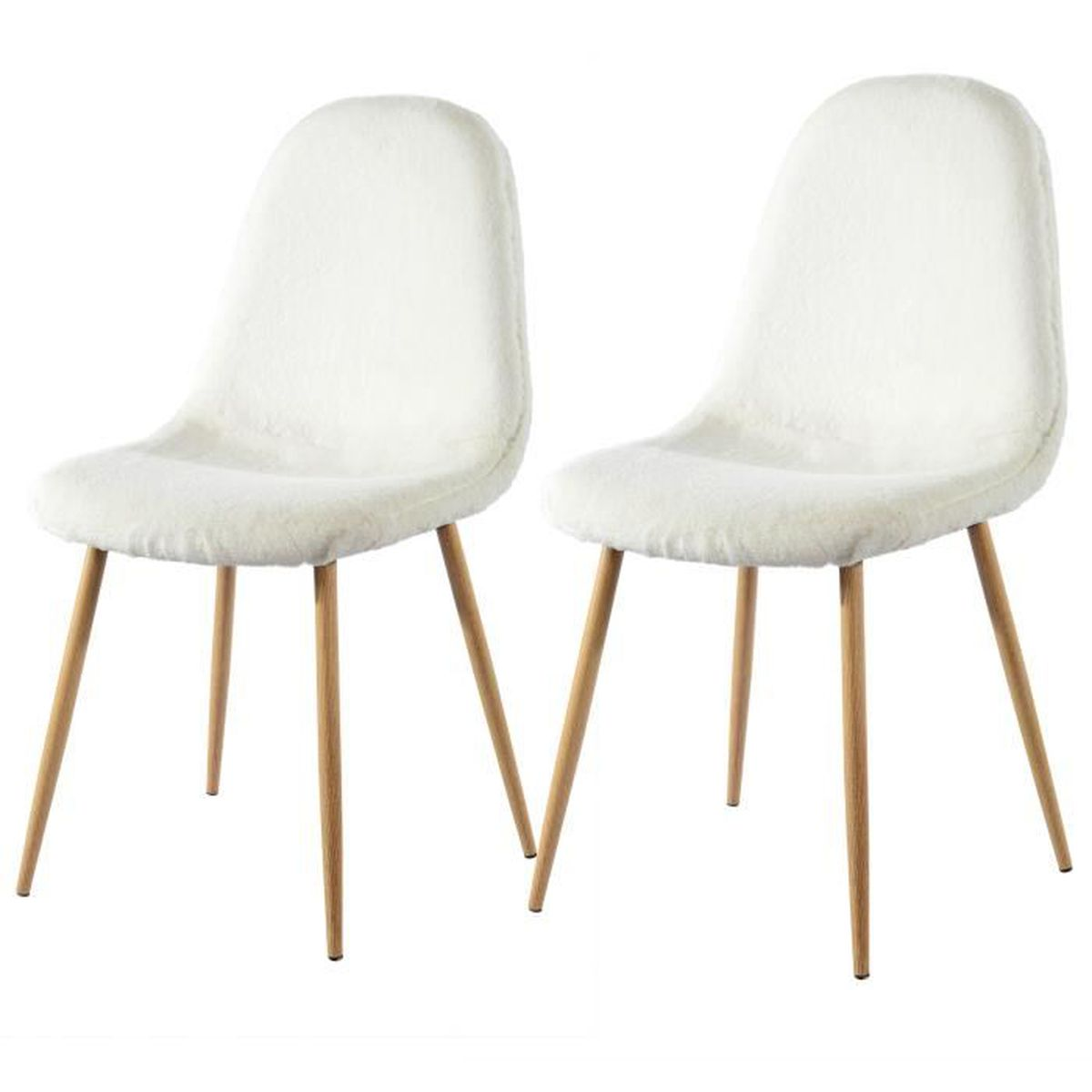 chaise pilou blanche lot de 2 achat vente chaise blanc cdiscount. Black Bedroom Furniture Sets. Home Design Ideas