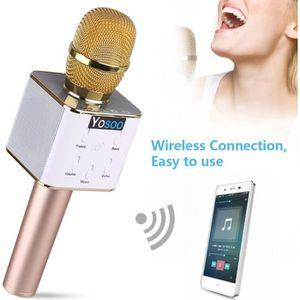 MICROPHONE - ACCESSOIRE Q7 Haut-parleur sans fil de microphone de karaoké