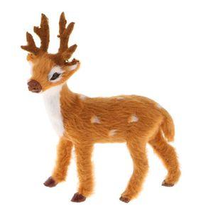 6Pcs Whitetail Deer Famille Elk Fawn Figure Animal Jouet collector Decor Modèle Cadeau