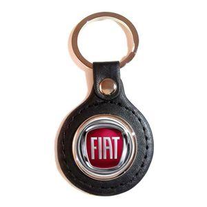 Porte clé Fiat 500 bleu clair en metal neuf idée cadeau