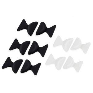 LUNETTES DE SOLEIL Lot de 3 patins NOIRS + 2 TRANSPARENTS pads plaque