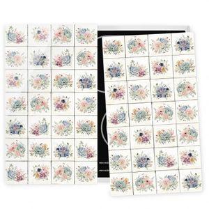 PLAQUE INDUCTION Couvre plaque de cuisson - Watercolor Flower Cotta