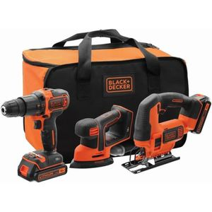 PERCEUSE BLACK&DECKER Kit 18V BCK31S1S - Perceuse à percuss