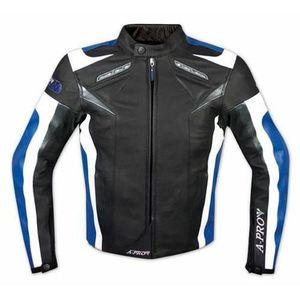 BLOUSON - VESTE Blouson Cuir Motard Moto Sport C...
