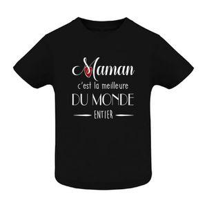 T-SHIRT T-shirt coton bébé - tee shirt enfant - maman c'es