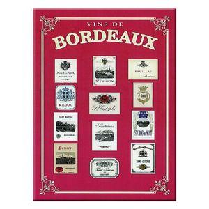 AFFICHE - POSTER Carte et Poster Métal Vins de Bordeaux 40 x 30cm