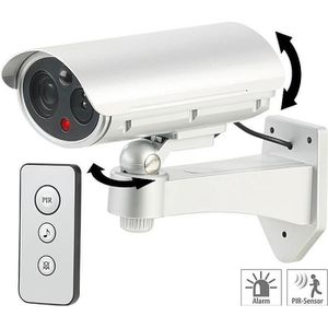 CAMÉRA FACTICE Caméra de surveillance factice avec détecteur de m