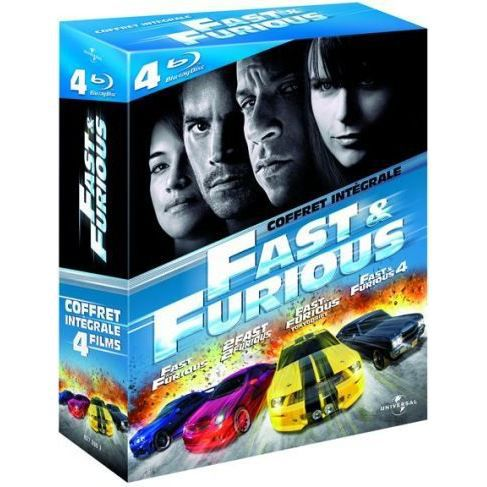 blu ray coffret quadrilogie fast and furious en blu ray film pas cher cohen rob singleton john. Black Bedroom Furniture Sets. Home Design Ideas