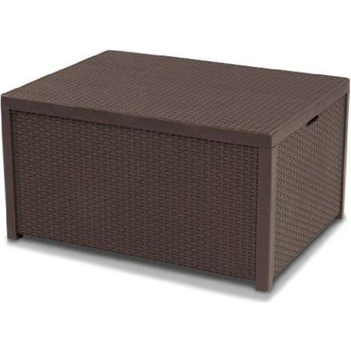 Allibert 220001 Monaco Table lounge/coffre à co…