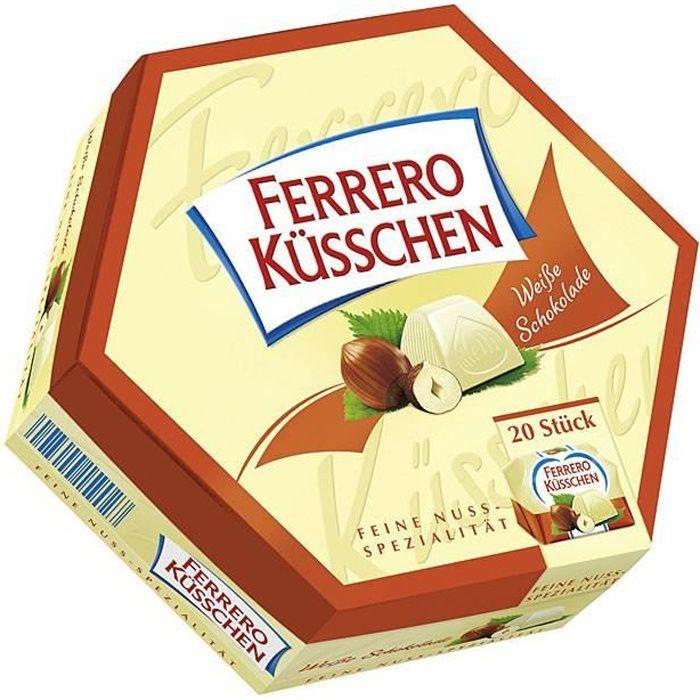 Chocolat de Noel: Ferrero Küsschen blanc, 178gr