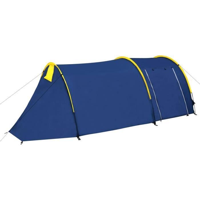 Luxueux Magnifique-Tente de Camping Familiale 4 Places - 4 personnes - Bleu marine-bleu clair