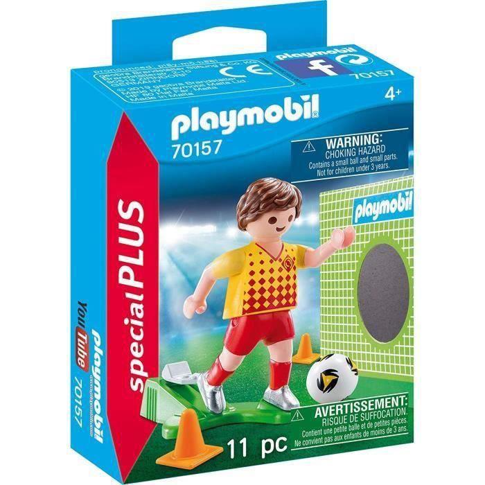 PLAYMOBIL 70157 - Sports et Action - Spécial Plus - Joueur de foot et but - Nouveauté 2020