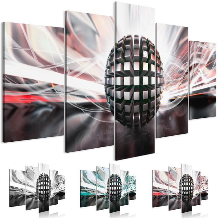 HJY-35 Moderne abstrait toile peinture métal balle affiches noir et blanc mur Art vert HD imprime des images modulai(Sans cadre)