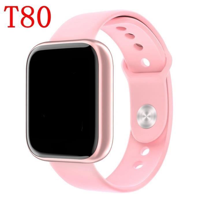 Femmes IP68 étanche montre pour Apple IPhone xiaomi LG moniteur de fréquence cardiaque Fitness Tracker - Type T80-3-with retail box