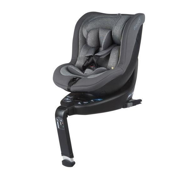 BE COOL Siège auto O3 LITE (iSize 40 - 105cm) Flanelle - gris