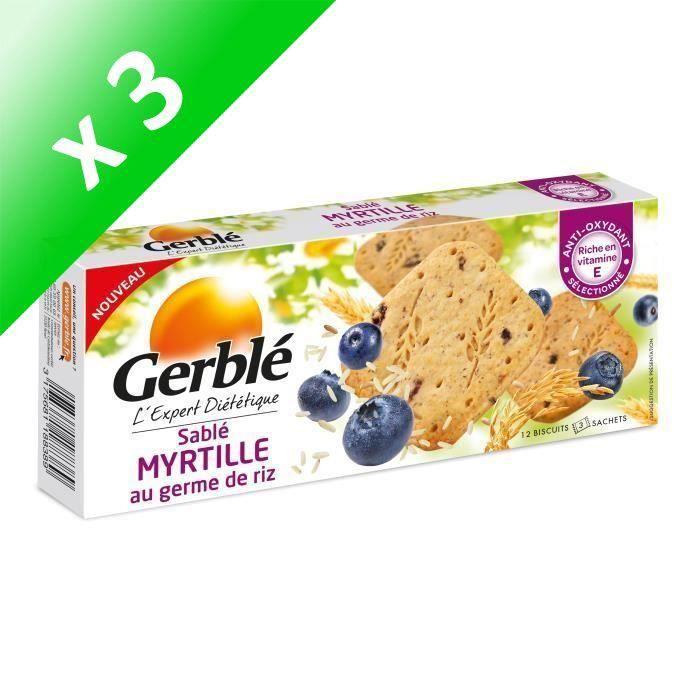 [LOT DE 3] GERBLE Sablés à la myrtille au germe de riz - 140 g