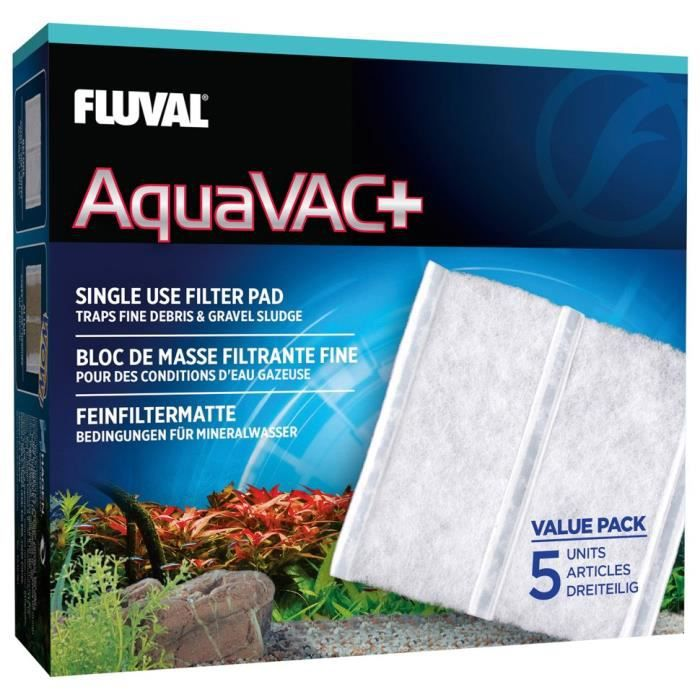 FLUVAL Lot de 5 blocs de filtration fine AquaVac+ - Pour aquarium