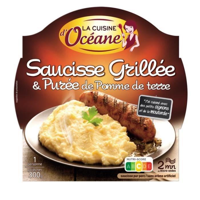 Saucisse grillée et purée 300g La Cuisine D'Océane