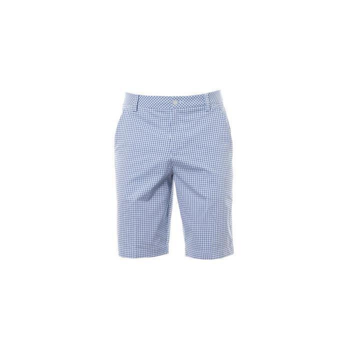 Short Puma Plaid Short Omphalodes Light blue - SH570521-A-03