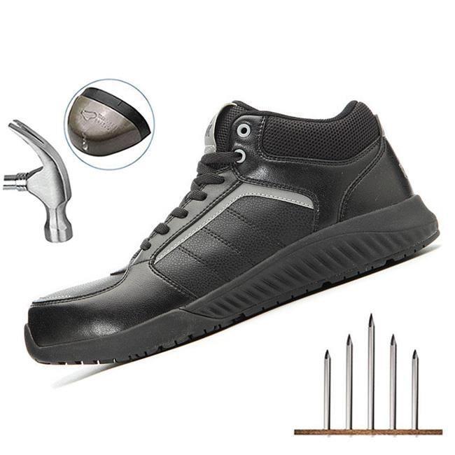 PEAK Chaussure de Securité Homme Legere, Embout en Acier Chaussure Respirant Basket Securité Réfléchissant Chaussure de Travail Bott