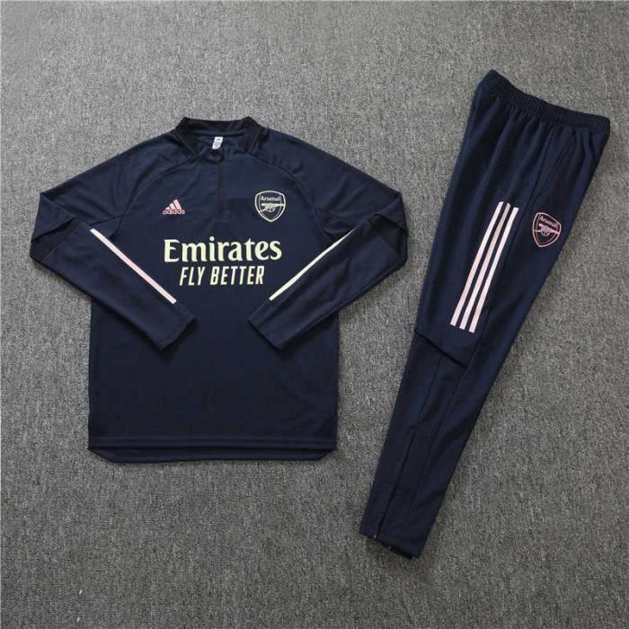 Tenue de Foot Enfants Arsenal - Maillot de Foot Homme Garcon Enfants 20-21 Survêtements de Foot(Haut + Pantalon)