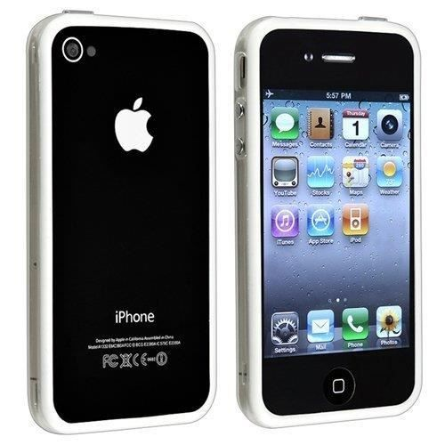 Bumper avec boutons effet métallique pour Iphone4